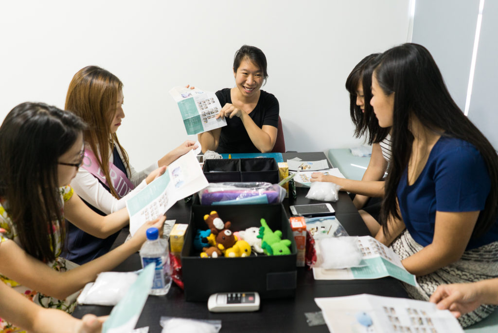 Tiny Rabbit Hole - Let's make some magic! ~ The Bachelorette Amigurumi Workshop in Singapore 2017
