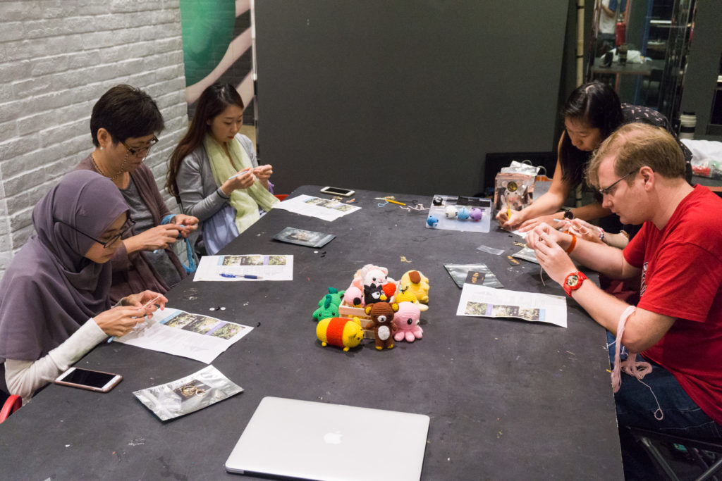 Tiny Rabbit Hole - Make Naiise Handmade Plushie at Naiise! - amigurumi workshop - naiise singapore - crochet workshop