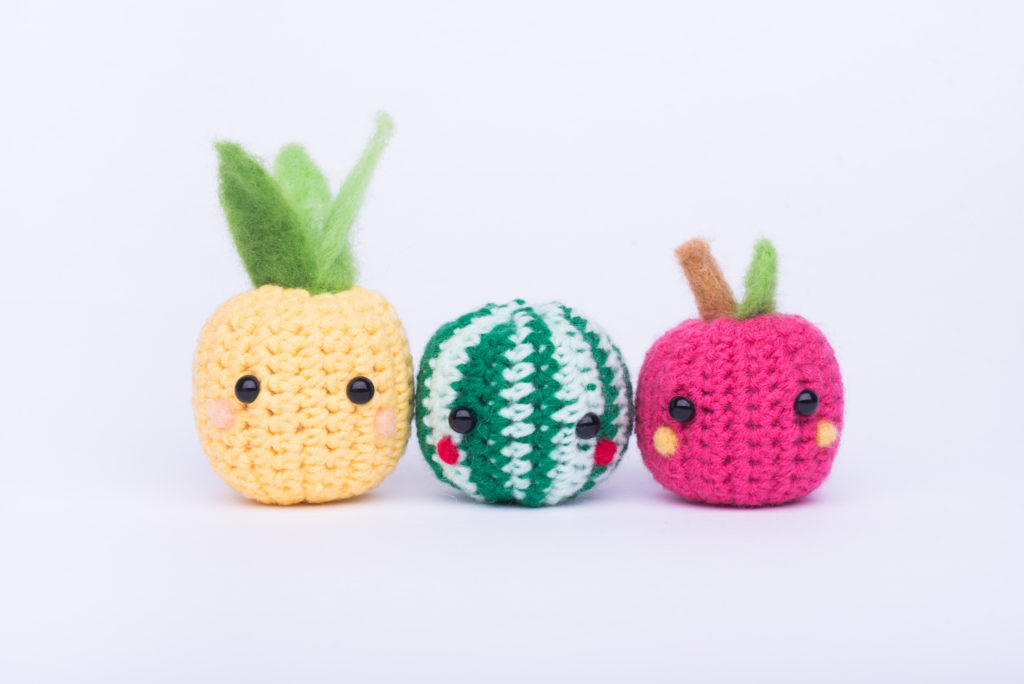 Tiny Rabbit Hole – Pineapple, Watermelon and Apple Amigurumi Intro to Crochet