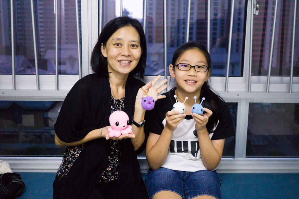Tiny Rabbit Hole – Mother Daughter Amigurumi Workshop Singapore
