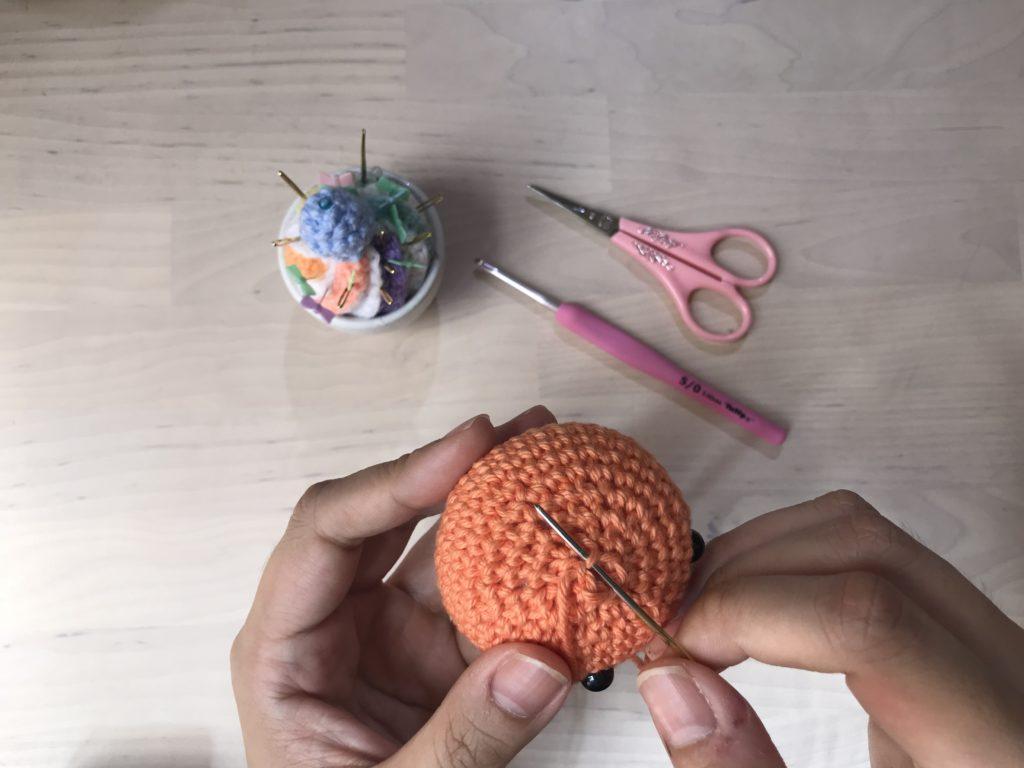 Tiny Rabbit Hole - Orange Kam Crochet Handmade Amigurumi Free Pattern