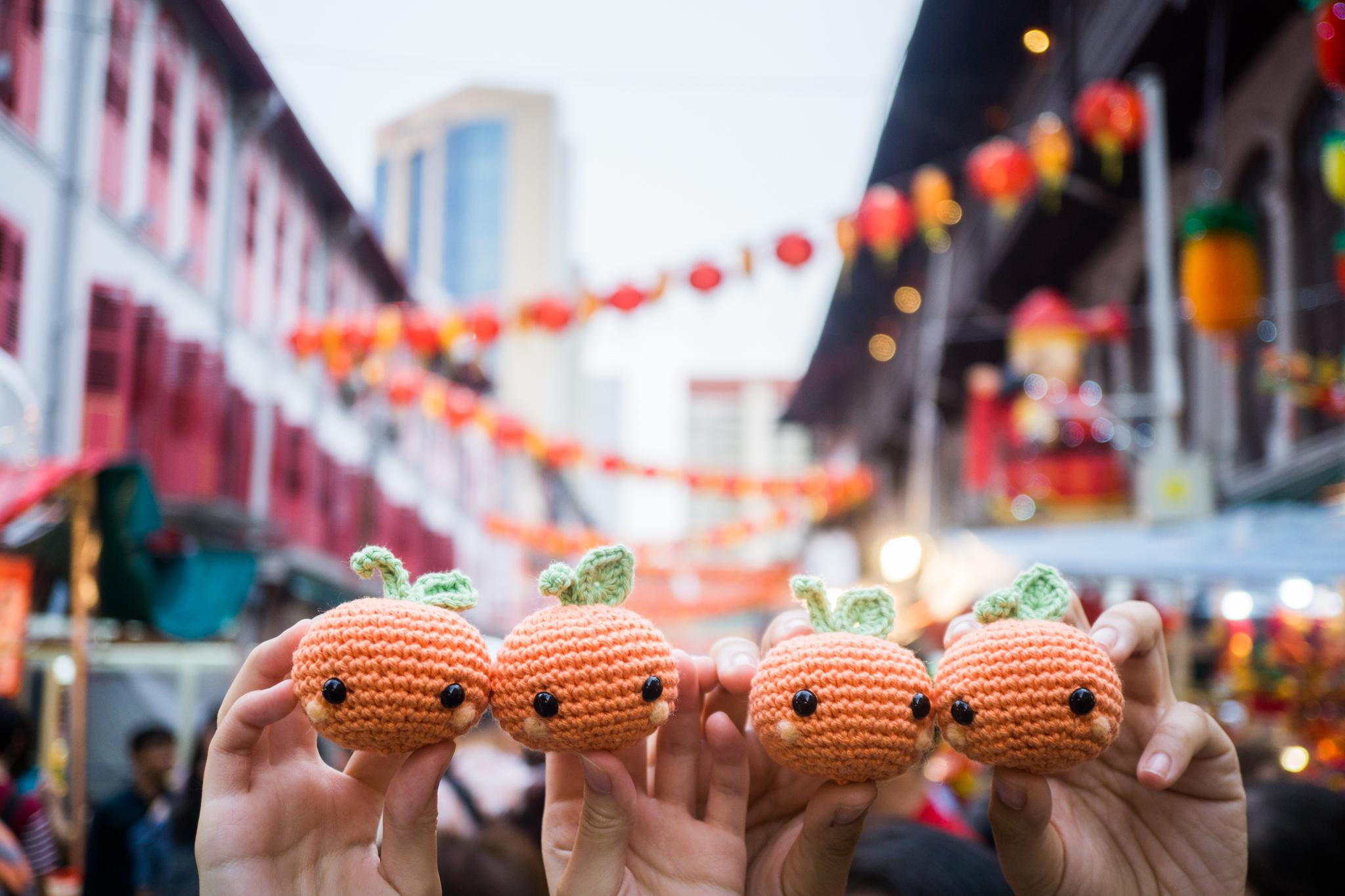 Tiny Rabbit Hole – Chinese New Year Kam Mandarin Orange Crochet Amigurumi